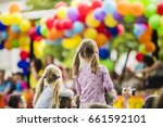 Children Watching Colorful...