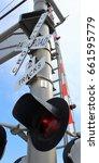 railroad light signals vertical | Shutterstock . vector #661595779