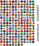 flags of countries superimpose... | Shutterstock . vector #661604857
