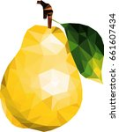 pear low poly | Shutterstock .eps vector #661607434