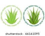 Aloe Vera Seals - stock vector