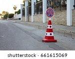 no parking cone | Shutterstock . vector #661615069