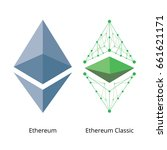 ethereum and ethereum classic... | Shutterstock .eps vector #661621171