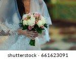 the bride's bouquet | Shutterstock . vector #661623091