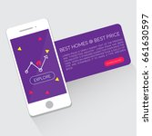 real estate app concept on a...