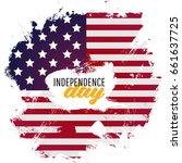 american national flag waving... | Shutterstock .eps vector #661637725