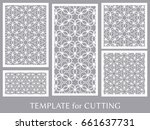 decorative panels set for laser ... | Shutterstock .eps vector #661637731