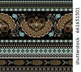 geometric ornament for weaving  ... | Shutterstock .eps vector #661651501