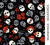 day of the dead  colorful... | Shutterstock .eps vector #661652821