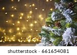 rustic holiday background with... | Shutterstock . vector #661654081