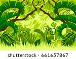 tropical forest. landscape.... | Shutterstock .eps vector #661657867