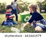 group of kids school volunteer... | Shutterstock . vector #661661479