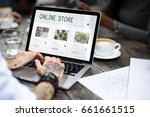 e commerce online shopping... | Shutterstock . vector #661661515
