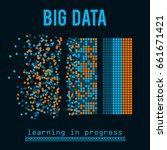 big data visualization. machine ... | Shutterstock .eps vector #661671421