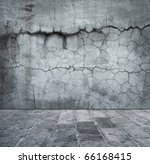 Grungy Distressed Stone Wall...