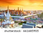 grand palace and wat phra keaw... | Shutterstock . vector #661685905