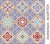 seamless ceramic tile with... | Shutterstock .eps vector #661697524