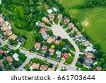 Aerial View Of Houses In...