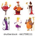 vector set of cartoon images of ... | Shutterstock .eps vector #661708111