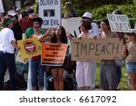 war protest   people with anti... | Shutterstock . vector #6617092