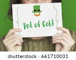 saint patrick day feast concept | Shutterstock . vector #661710031