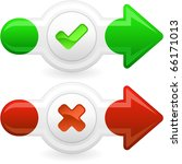 approved and rejected icons. | Shutterstock .eps vector #66171013