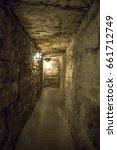underground brick tunnel  | Shutterstock . vector #661712749