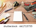 construction materials  sample... | Shutterstock . vector #661715755