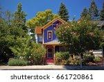 victorian house in napa ... | Shutterstock . vector #661720861