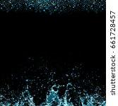 Small photo of splash of juice isolated on black background. beautiful splash of blue wine close-up. blue water splash. oil splash. water spray with drops isolated.