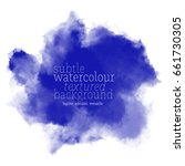 blue watercolor background | Shutterstock .eps vector #661730305