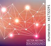 geometric background. internet...   Shutterstock .eps vector #661732291