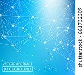 geometric background. internet...   Shutterstock .eps vector #661732309