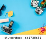 summer background  summer... | Shutterstock . vector #661735651