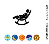 man in rocking chair icon | Shutterstock .eps vector #661737535