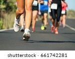 marathon running race  people... | Shutterstock . vector #661742281