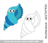 funny seashell to be traced...   Shutterstock .eps vector #661747954