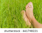 Woman's Barefoot With Small...