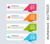 infographic templates in paper... | Shutterstock .eps vector #661750225