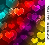 beautiful colorful heart shape... | Shutterstock . vector #66175402