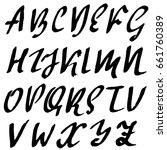 hand drawn elegant calligraphy... | Shutterstock .eps vector #661760389