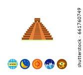 maya pyramid icon | Shutterstock .eps vector #661760749