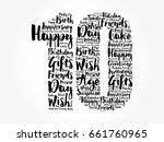 happy 10th birthday word cloud... | Shutterstock .eps vector #661760965