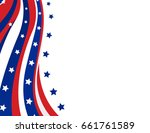 usa flag in style vector | Shutterstock .eps vector #661761589