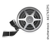reel with film on isolated... | Shutterstock .eps vector #661765291