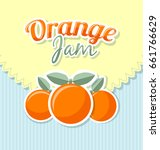orange jam label in retro style ... | Shutterstock .eps vector #661766629