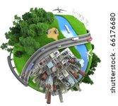 Concept Miniature Globe Showin...
