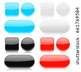 glass buttons collection. round ... | Shutterstock . vector #661769584
