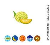 melon and melon slice | Shutterstock .eps vector #661786219