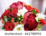 bridal bouquet  fresh flowers... | Shutterstock . vector #661788901